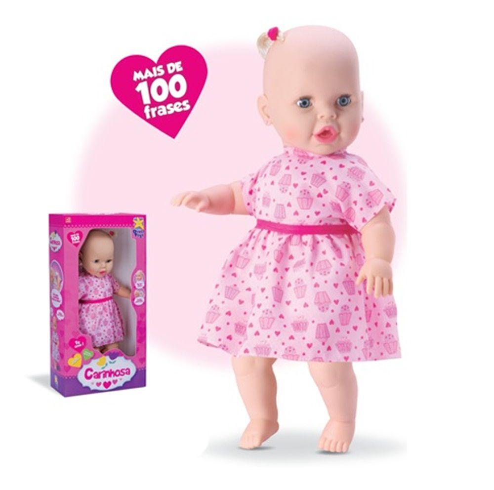 Boneca Carinhosa 100 Frases - Diver Toys