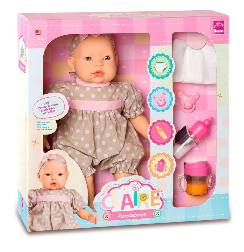 Boneca Claire com Acessórios - Roma Brinquedos