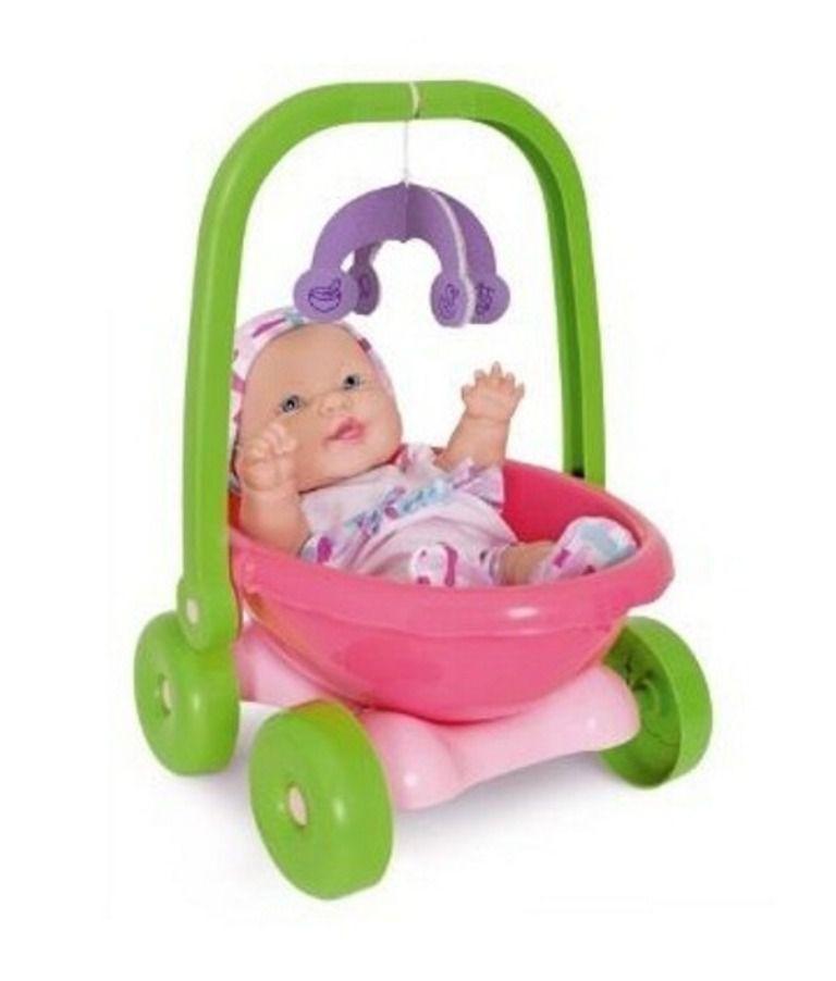 Boneca Coleção Baby Junior Carrinho 3 em 1 - Cotiplás