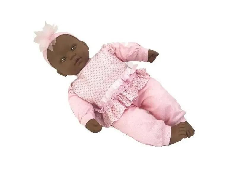 Boneca Coleção Bebês com Som Negra - Diver Toys
