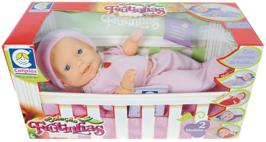 Boneca Coleção Frutinhas Babys Morango - Cotiplás