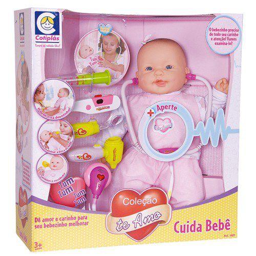 Boneca Coleção Te Amo Cuida Bebê - Cotiplás