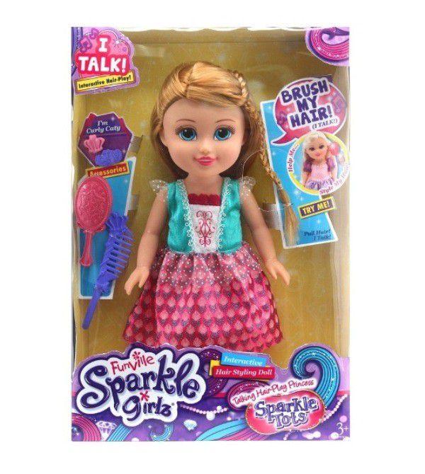 Boneca Funville Sparkle Girlz Pequena Brilhante Princesa - DTC