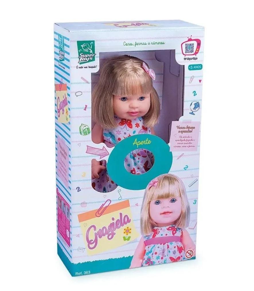 Boneca Graziela Cores Formas e Números - Super Toys