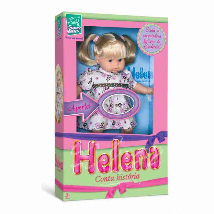 Boneca Helena Conta História com Cabelo - Super Toys