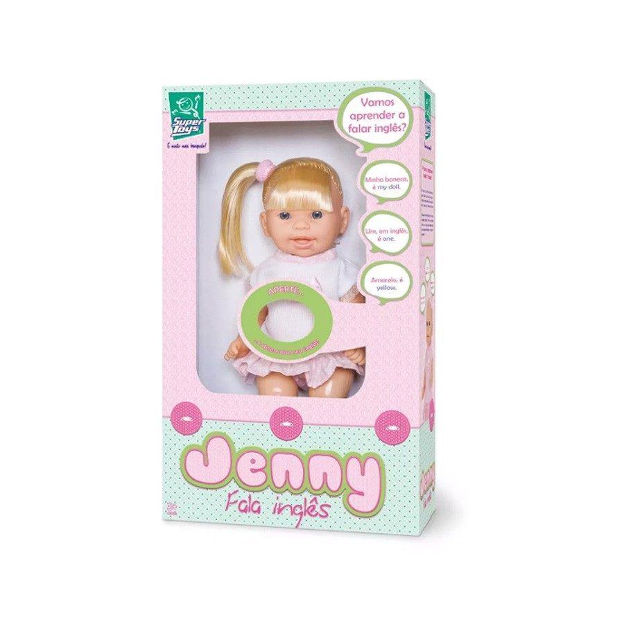 Boneca Jenny Fala Inglês - Super Toys