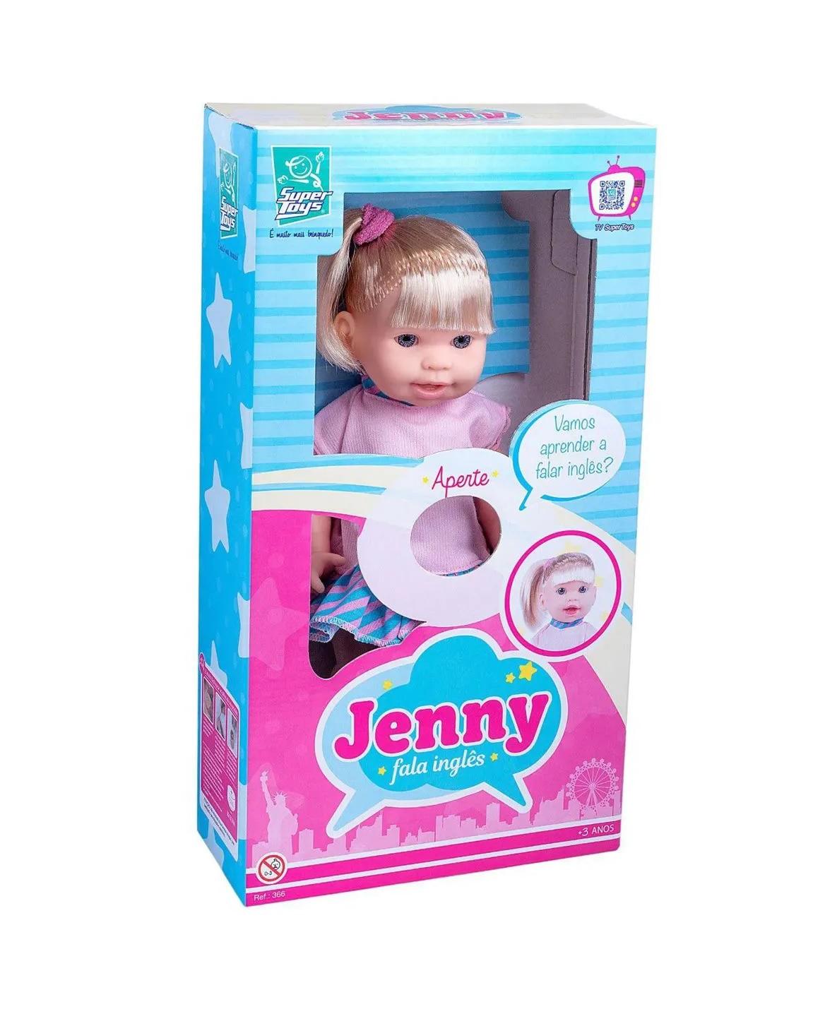 Boneca Jenny Fala Inglês com Cabelo - Super Toys