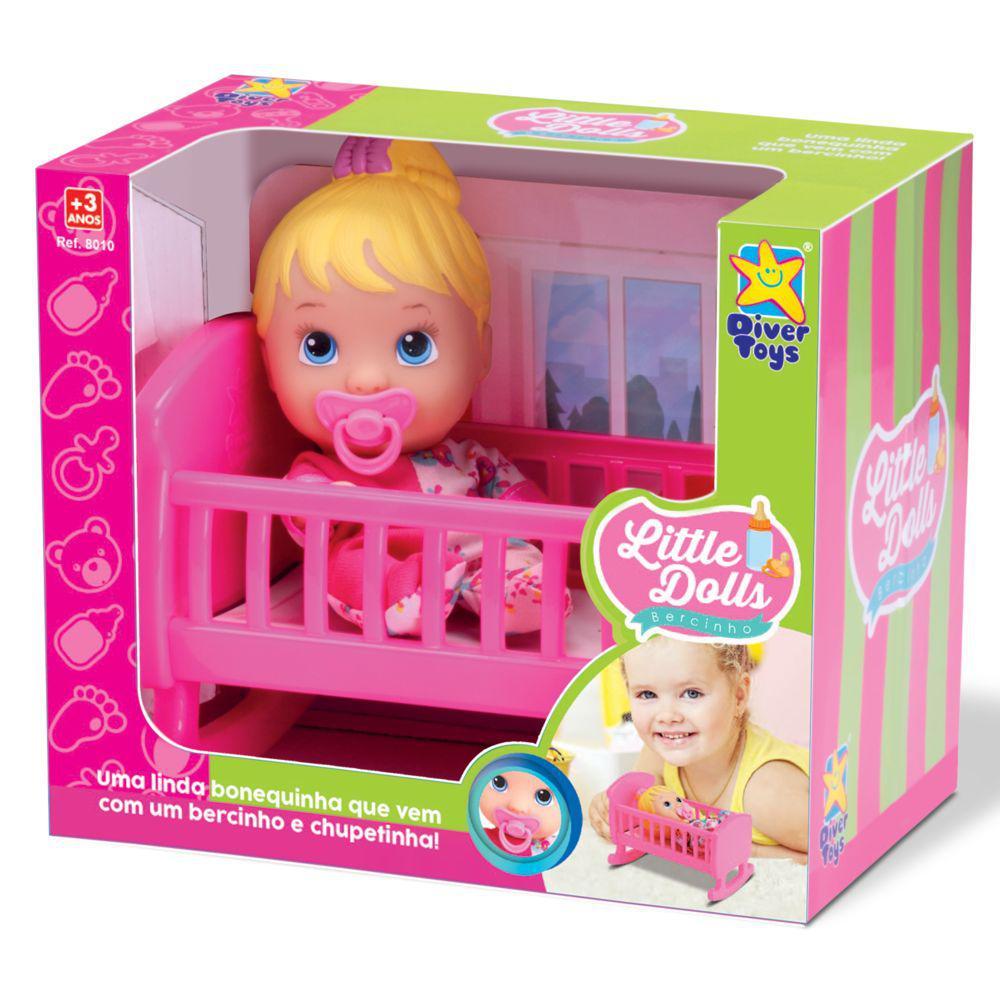 Boneca Little Dolls Bercinho - Diver Toys