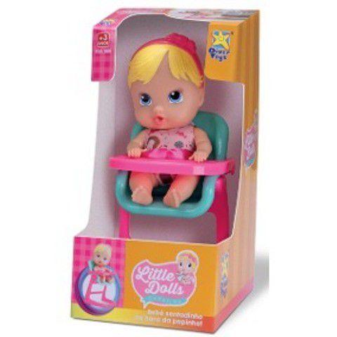 Boneca Little Dolls Cadeirão - Diver Toys