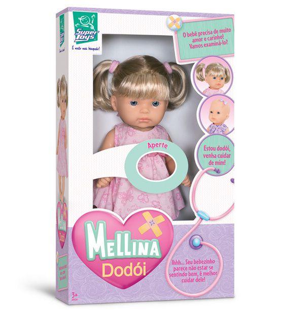 Boneca Mellina Dodói - Super Toys