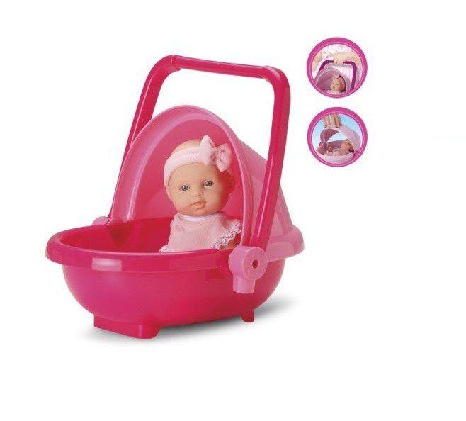 Boneca Micro Bebê Mania Carrinho de Bebê - Roma Brinquedos