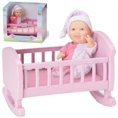 Boneca Mini Miudinhas Bercinho - Diver Toys