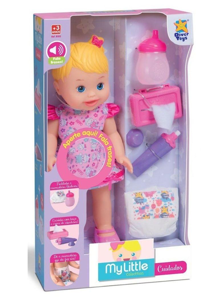 Boneca My Little Collection Cuidados com Som - Diver Toys