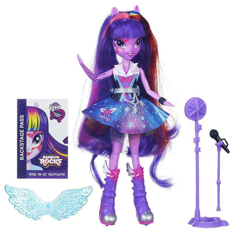 Boneca My Little Pony Rainbow Rocks Twilight Sparkle - Hasbro