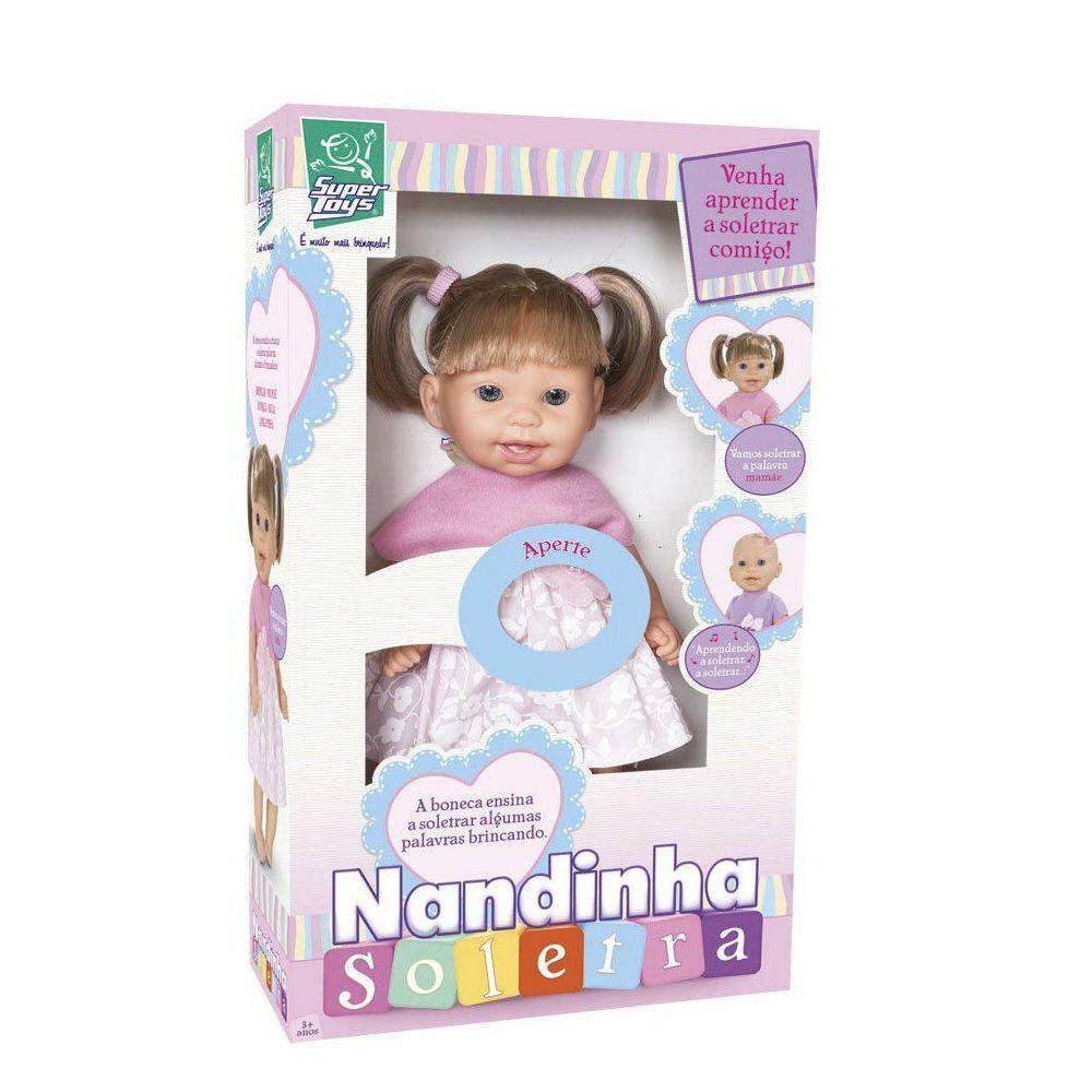Boneca Nandinha Soletra - Super Toys