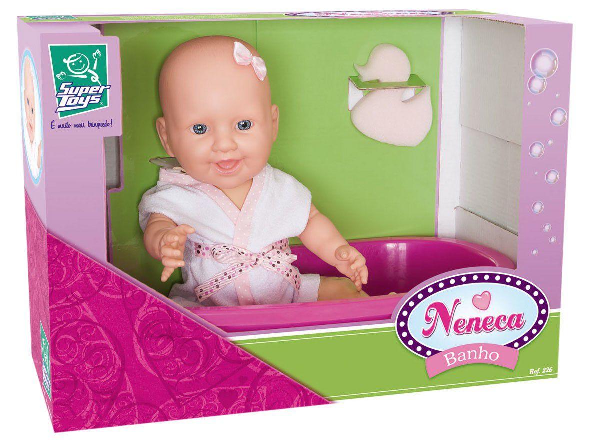 Boneca Neneca Banho - Super Toys