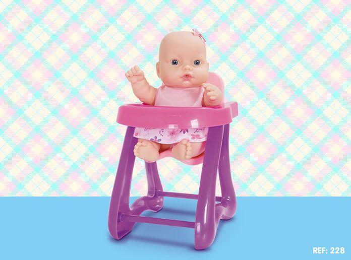 Boneca Nenequinha Collection Cadeirinha - Super Toys