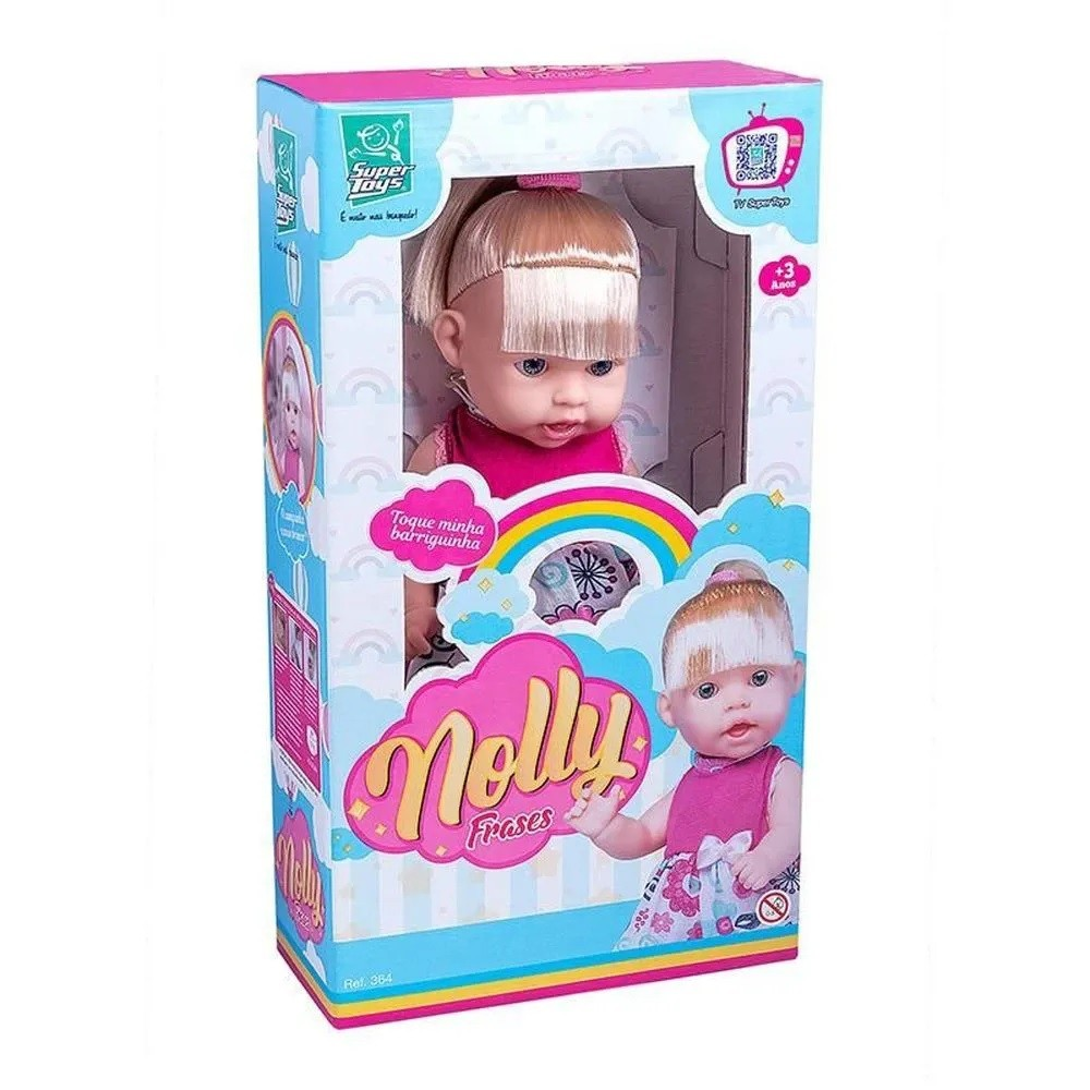 Boneca Nolly Frases - Super Toys