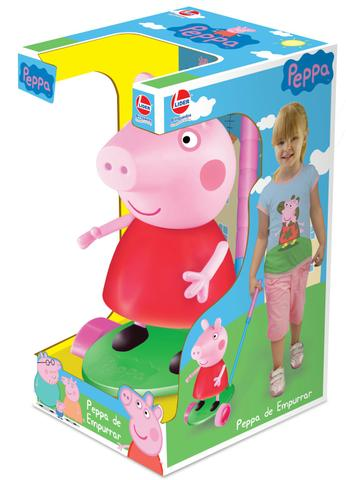 Boneca Peppa Pig de Empurrar - Lider Brinquedos