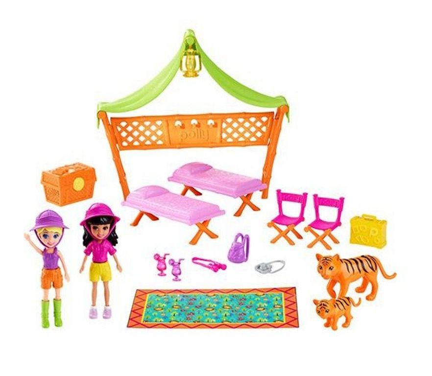 Boneca Polly Pocket Acampamento Safari - Mattel