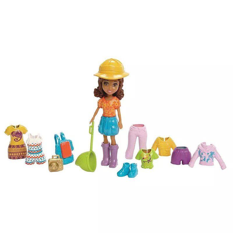 Boneca Polly Pocket Aventura na Amazónia / Passeio em Nova Iorque - Mattel