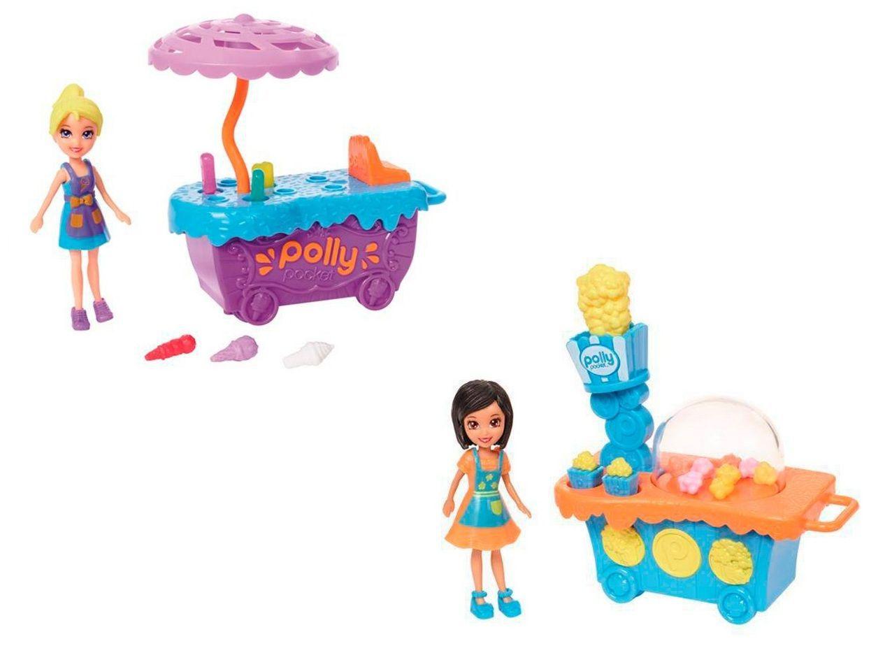 Boneca Polly Pocket - Carrinho de Pipoca/ Carrinho de Sorvetes Divertidos - Mattel