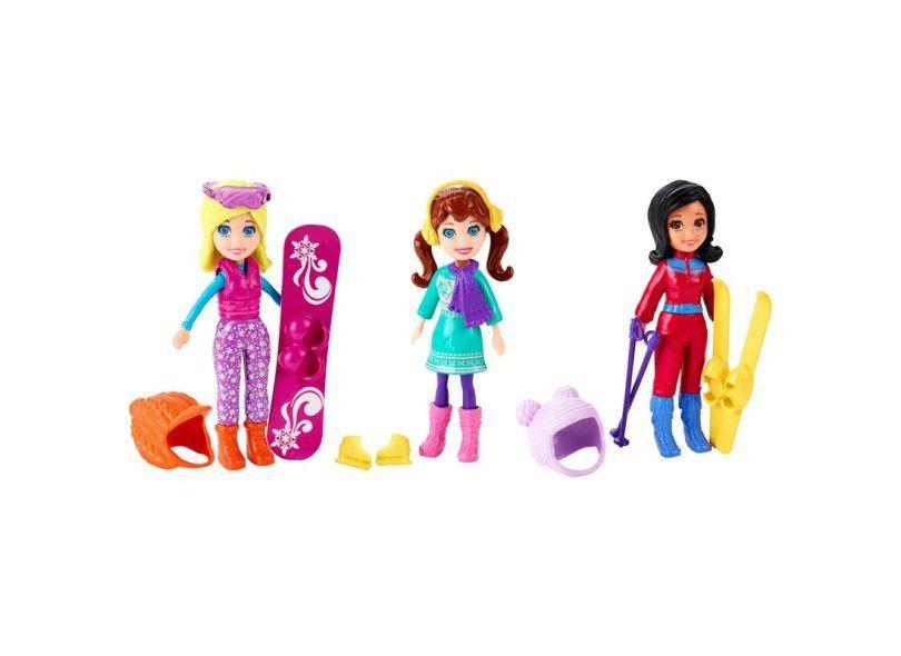 Boneca Polly Pocket - Diversão na Neve/ Diversão na Praia - Mattel