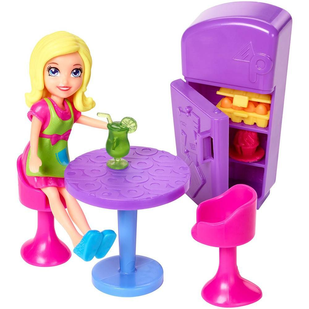 Boneca Polly Pocket Food Truck Divertido 2 em 1 - Mattel