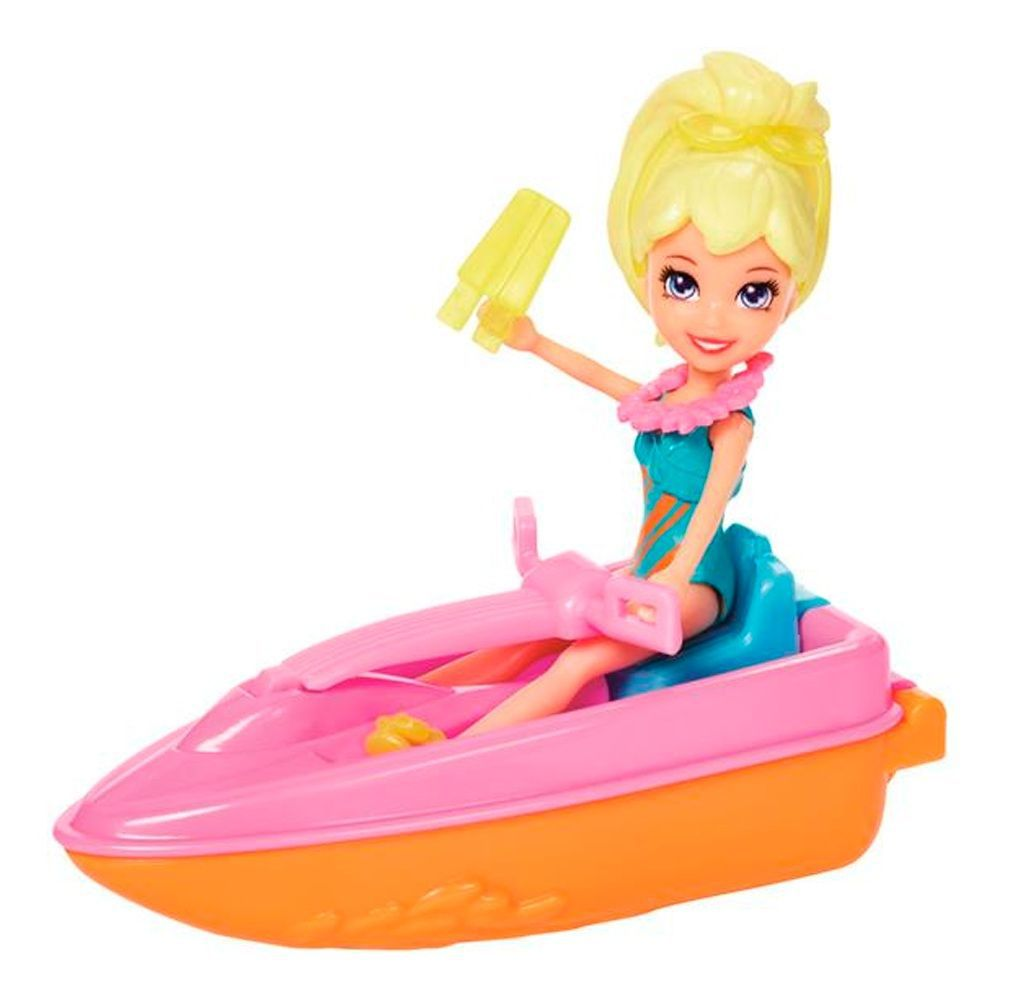 Boneca Polly Pocket Veículos Tropicais - Mattel