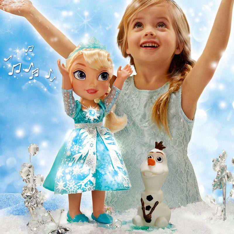 Boneca Princesa Elsa Neve Brilhante de Luxo Disney Frozen - Sunny