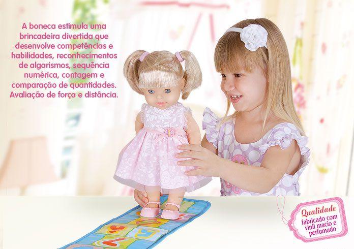 Boneca Pula Amarelinha - Cotiplás