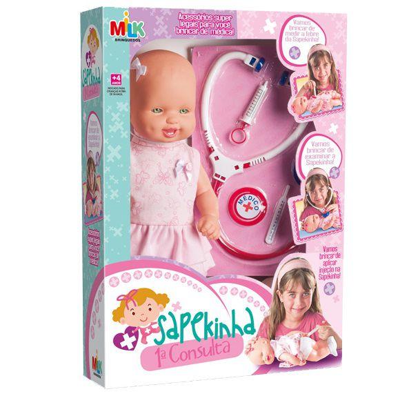 Boneca Sapekinha 1ª Consulta - Milk Brinquedos