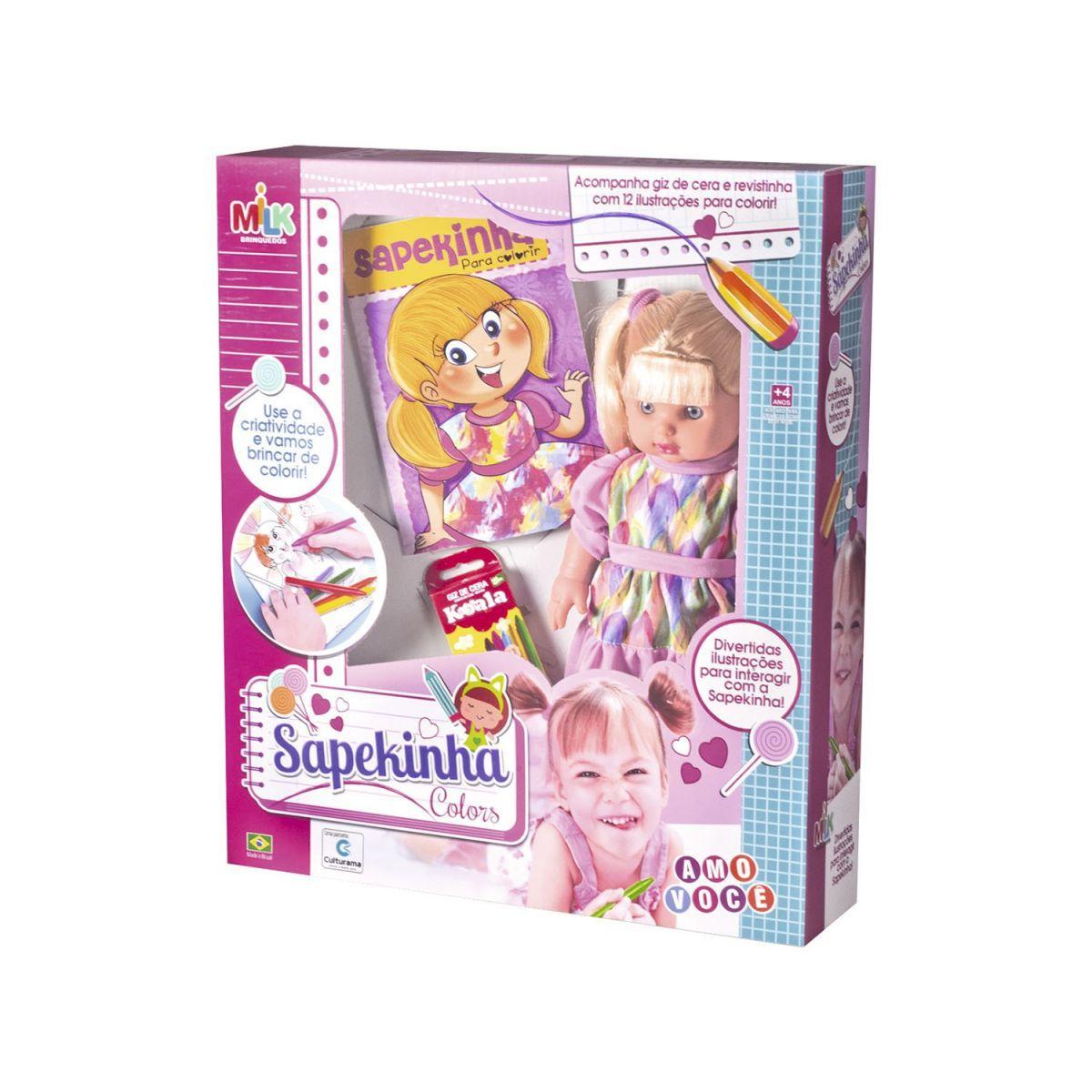 Boneca Sapekinha Colors - Milk Brinquedos