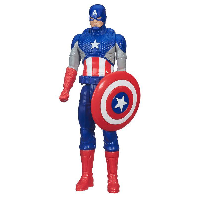 Boneco Articulado Titan Hero Series Marvel Avengers Capitão América 30cm  - Hasbro