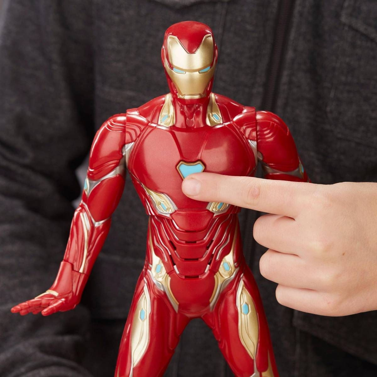 Boneco Avengers Homem de Ferro Repulsor Blast com Som - Hasbro