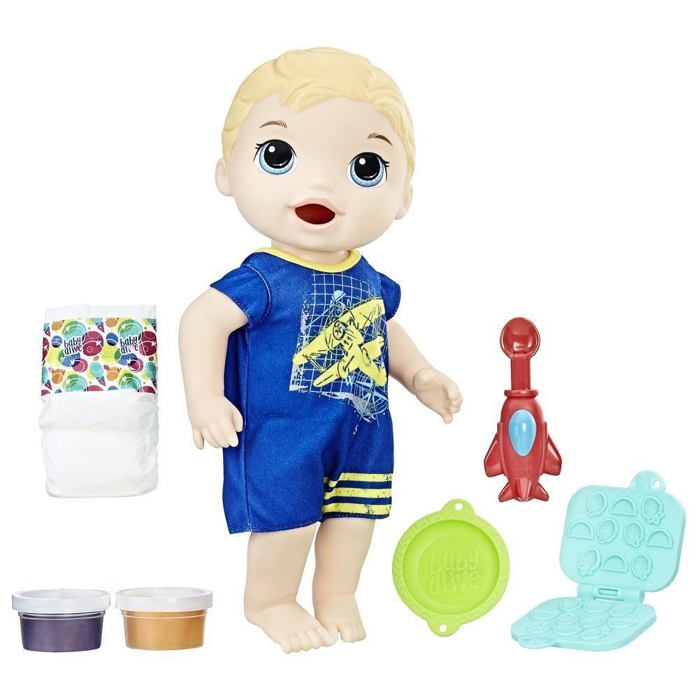 Boneco Baby Alive Luke Lanchinhos Divertidos Meu Primeiro Filho Loiro - Hasbro