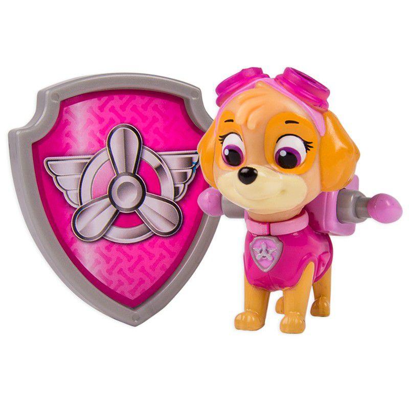 Boneco com Distintivo Patrulha Canina Skye - Sunny