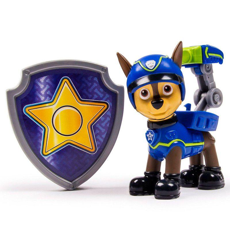 Boneco com Distintivo Patrulha Canina Spy Chase - Sunny