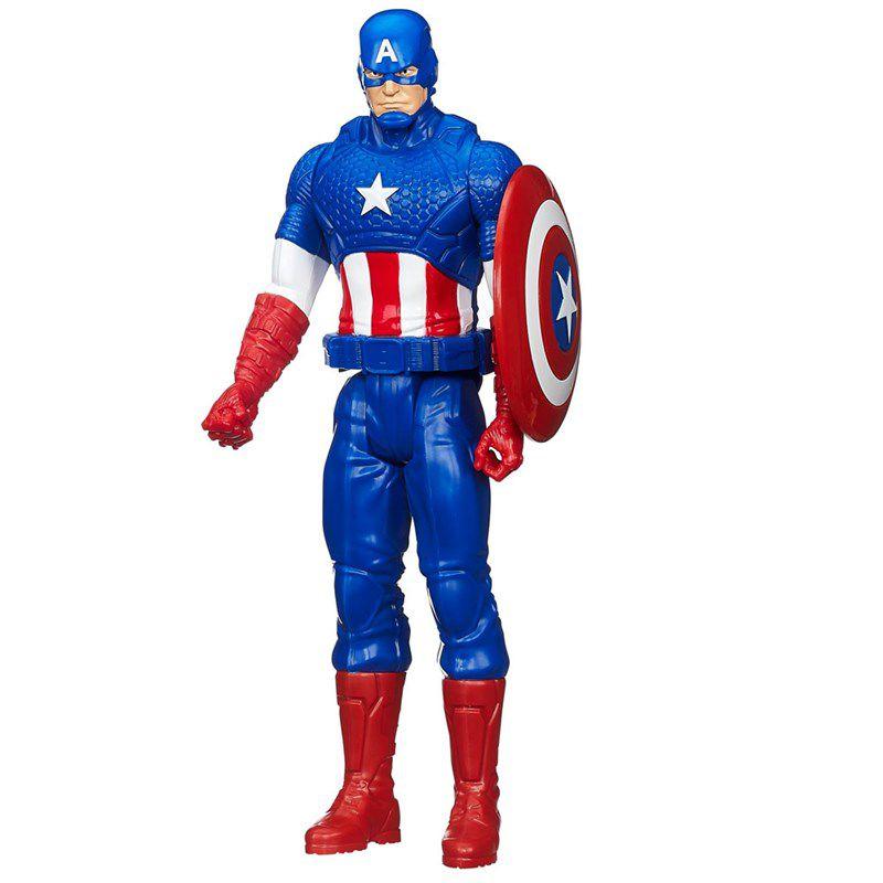 Boneco Marvel Avengers Titan Hero Series 30 cm Capitão América - Hasbro