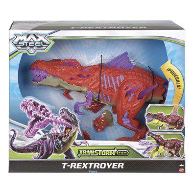 Boneco Max Steel T-Rextroyer - Mattel