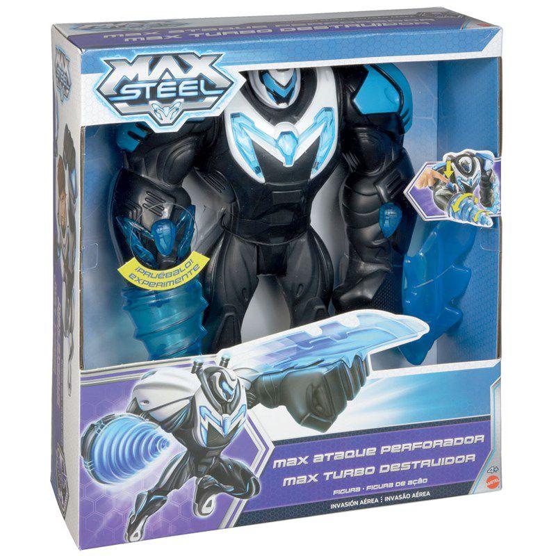 Boneco Max Steel Turbo Destruidor - Mattel