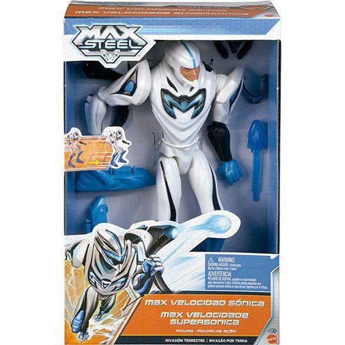 Boneco Max Steel Velocidade Supersônica - Mattel