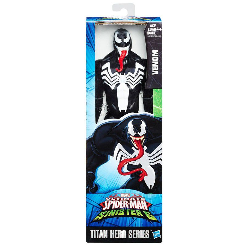 Boneco Titan Hero Series Ultimate Spider-Man Vs Sexteto Sinistro Venon - Hasbro