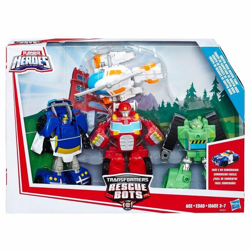 Boneco Transformers Rescue Bots Equipe de Resgate de Griffin Rock Playskool Heroes - Hasbro