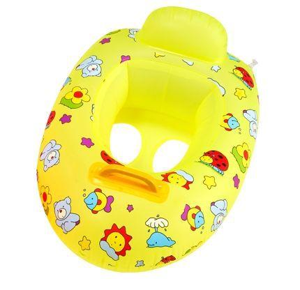 Bote Inflável Infantil com Fralda Amarelo Bichinhos - MOR