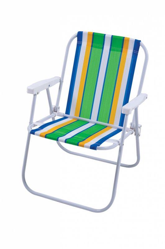 Cadeira de Praia Alta em Aço - MOR