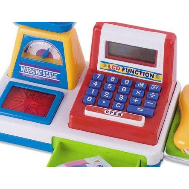 Caixa Registradora Azul Pequena - Fenix Brinquedos