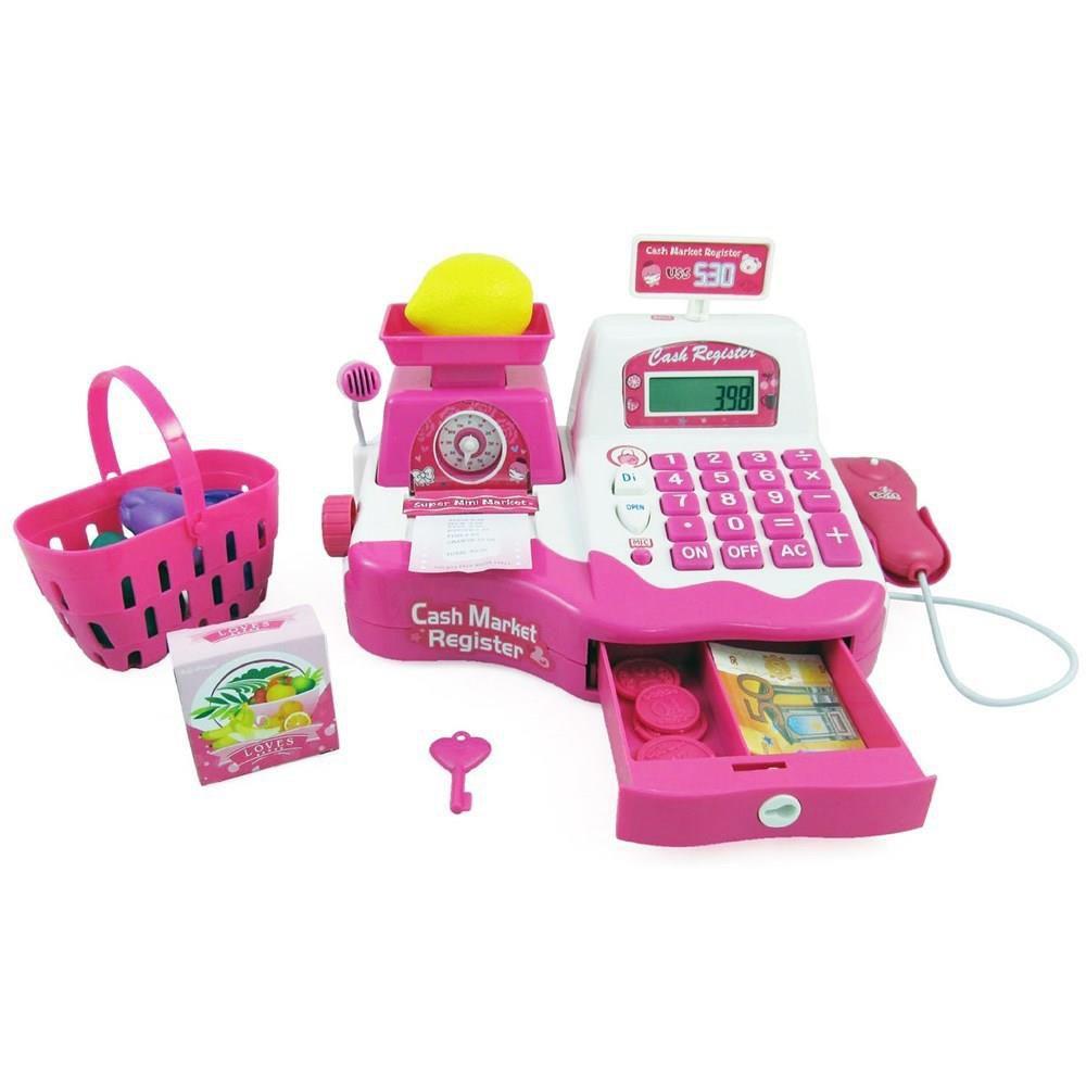 Caixa Registradora Rosa Grande - Fenix Brinquedos
