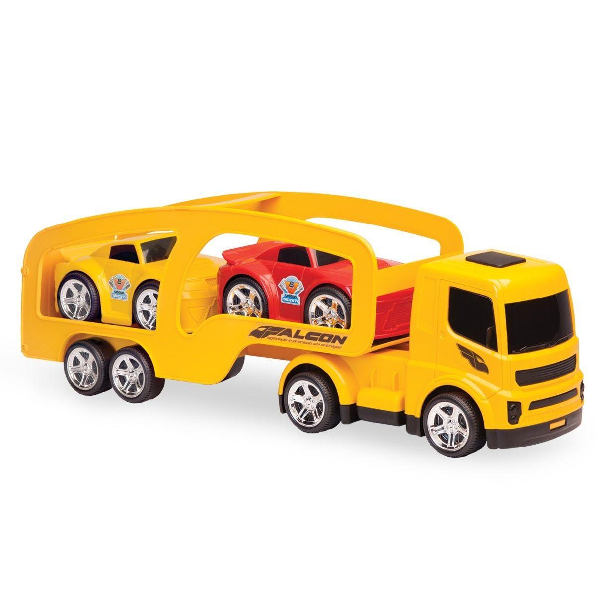 Caminhão Falcon Cegonheira com 2 Carrinhos - Usual Brinquedos