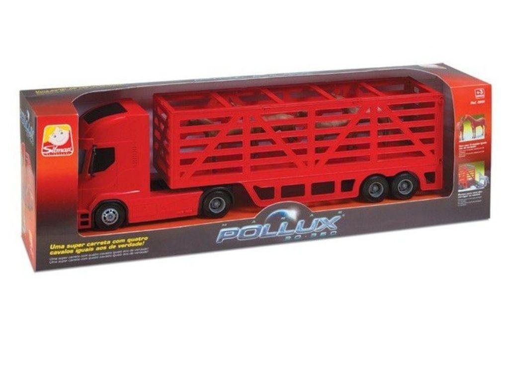 Caminhão Haras Pollux 30-360 com Cavalos - Silmar Brinquedos
